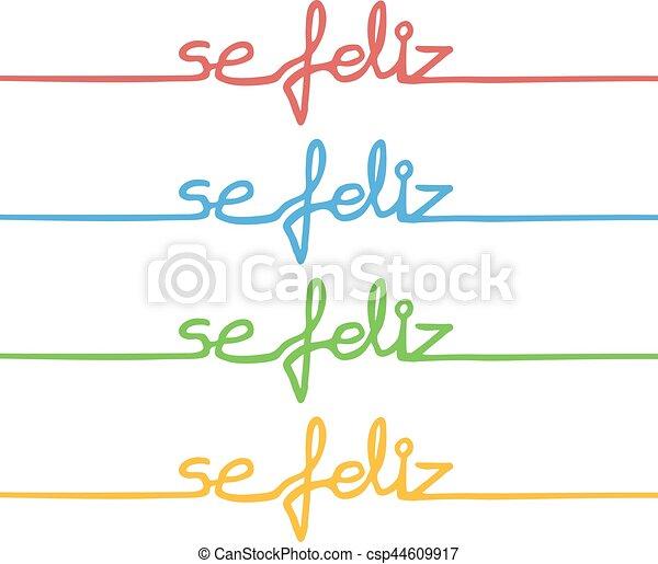 couleur, message, heureux - csp44609917