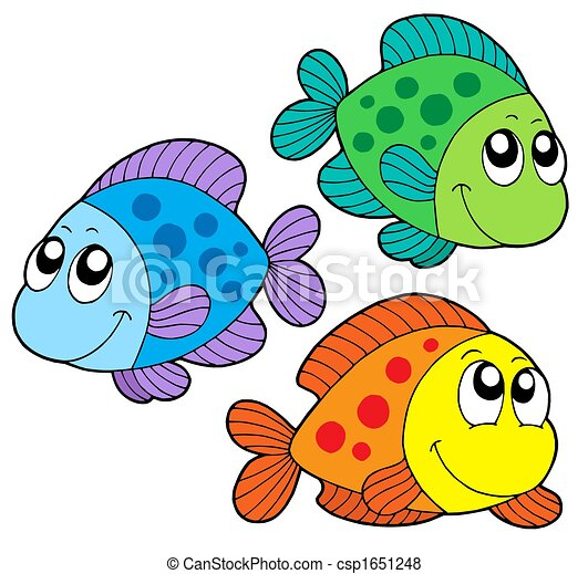 Couleur mignon poissons mignon illustration couleur - Poisson dessin couleur ...