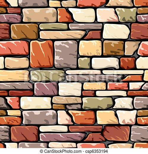 Couleur Mur Pierre Mur Pierre Vecteur Seamless Fond