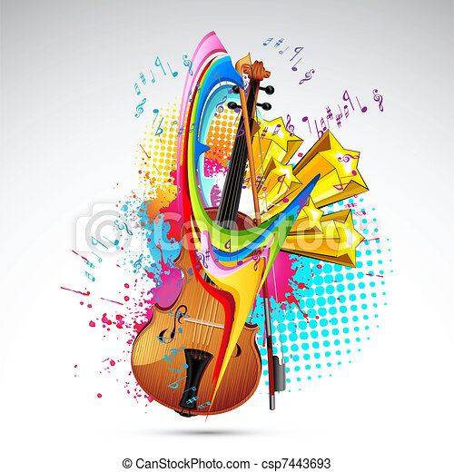 Gut gemocht Vecteurs de couleur, musique - coloré, résumé, illustration, fond  CG03
