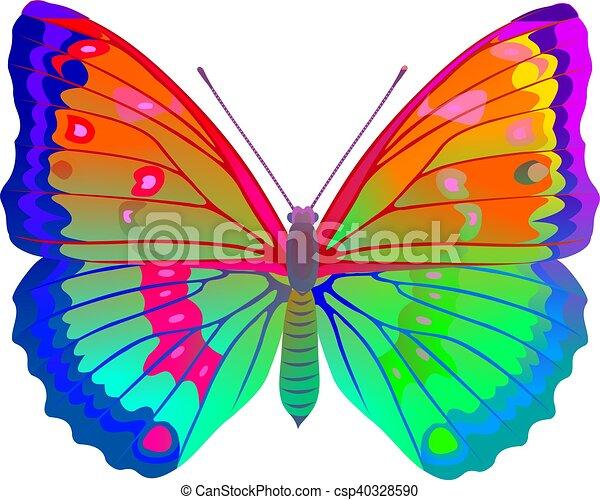 Couleur papillon entiers - Papillon dessin couleur ...