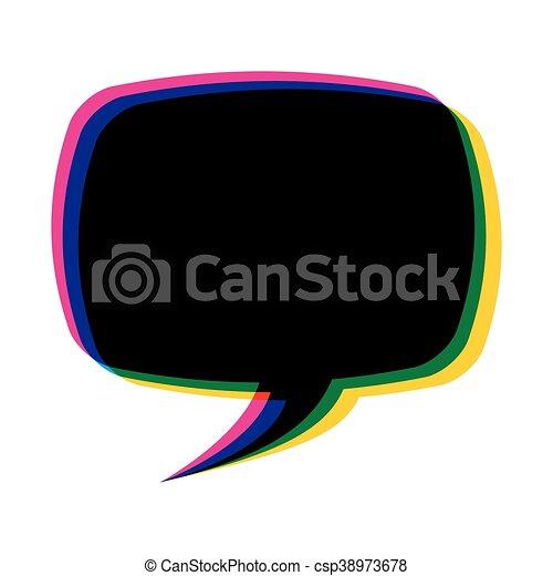 couleur, parole, message, bulle, icône - csp38973678