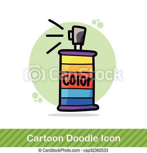 couleur, peinture, pulvérisation, griffonnage - csp32362533