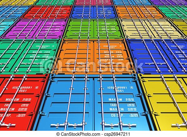 couleur, récipients cargaison - csp26947211