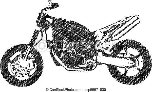 Couleur Resume Motocross Illustration Une Resume Noir