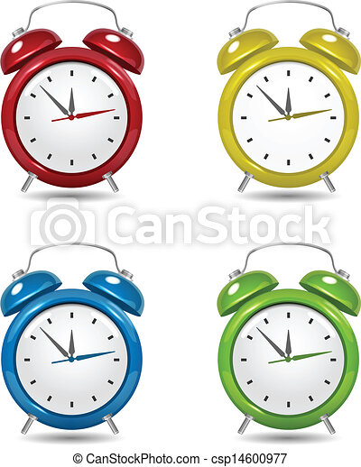 Couleur reveil set horloge horloge couleur reveil - Dessin reveil ...