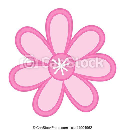 Couleur Rose Croquis Fleur