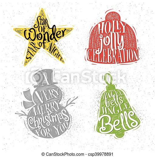 Couleur Silhouettes étoile Noël