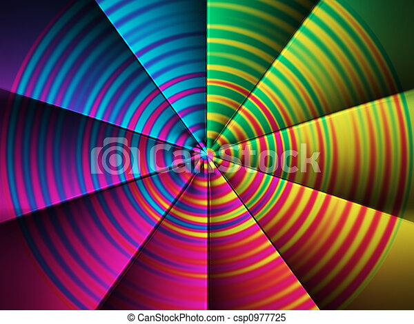 couleur, ventilateur - csp0977725