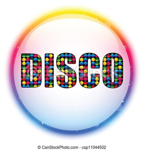 couleur, verre, cercle, balle, disco - csp11044502