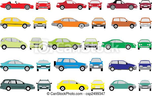 couleur, voitures - csp2499347