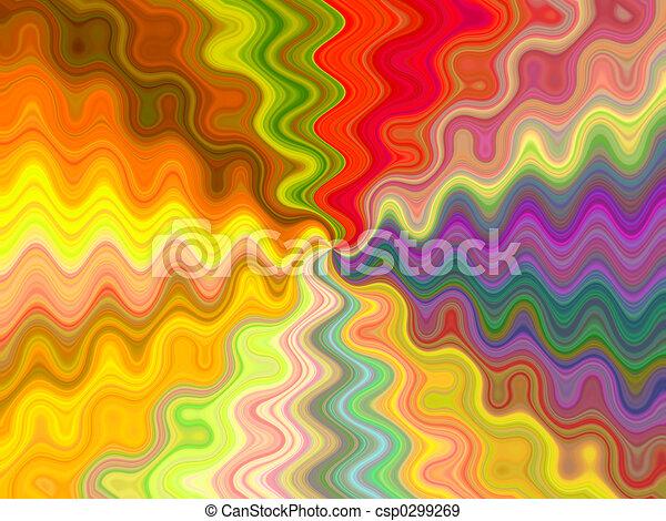 couleurs, écoulement - csp0299269