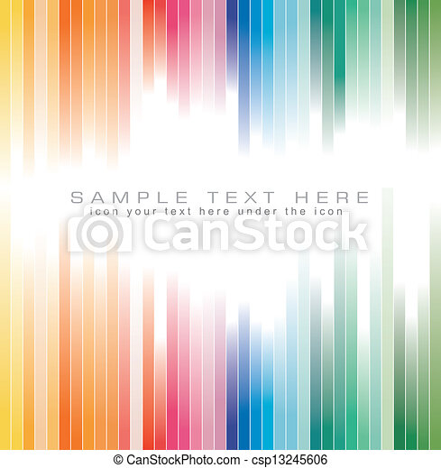 couleurs, arc-en-ciel, arrière-plan dépouillé, brochure - csp13245606