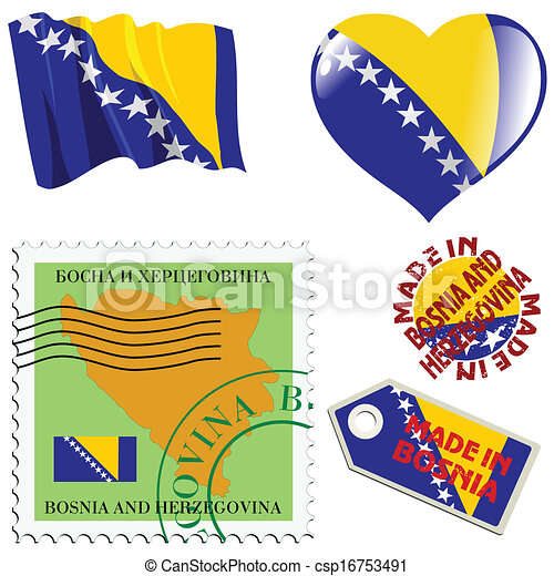couleurs, national, bosnie - csp16753491
