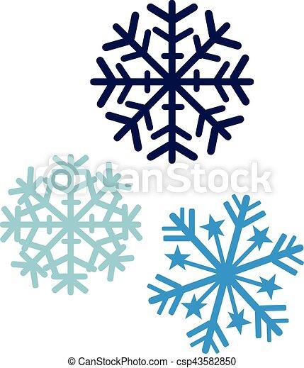 Couleurs trois flocons neige - Dessins flocons de neige ...