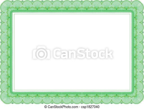 couleurs, vert, certificat - csp1827040