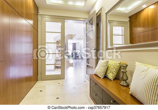 couloir, conception, idée, luxueux