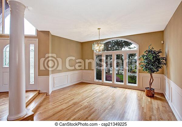 couloir, entrée, maison, luxe, interior., vide