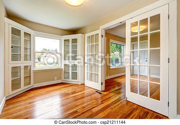 Couloir entrée salle bureau maison interior vide vue