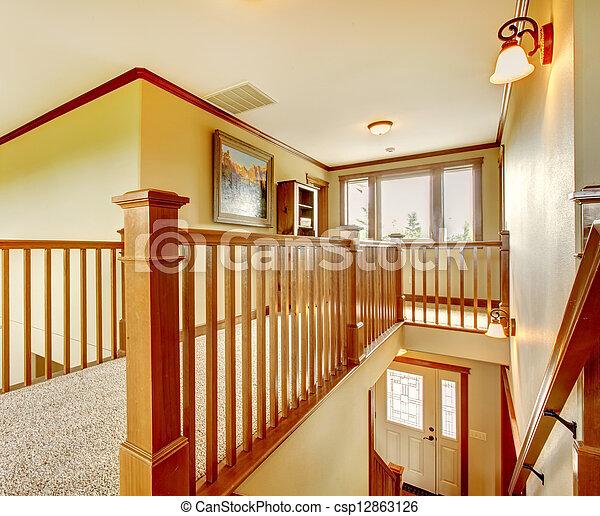 couloir escalier grand details am ricain nouvelle maison. Black Bedroom Furniture Sets. Home Design Ideas