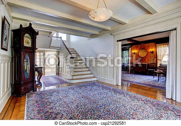 Couloir House Tapis Escalier Luxe Bleu Couloir Entree