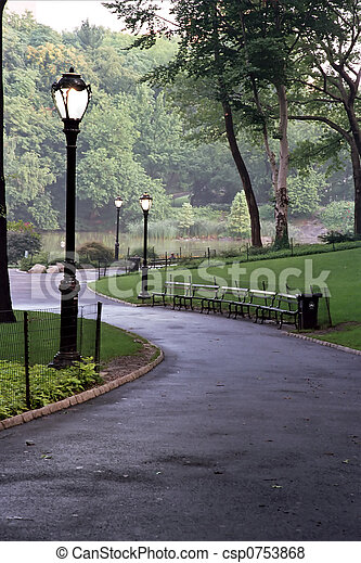 couloir, parc - csp0753868