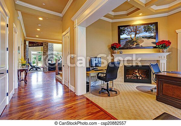 Couloir salle bureau maison luxe interior couloir salle