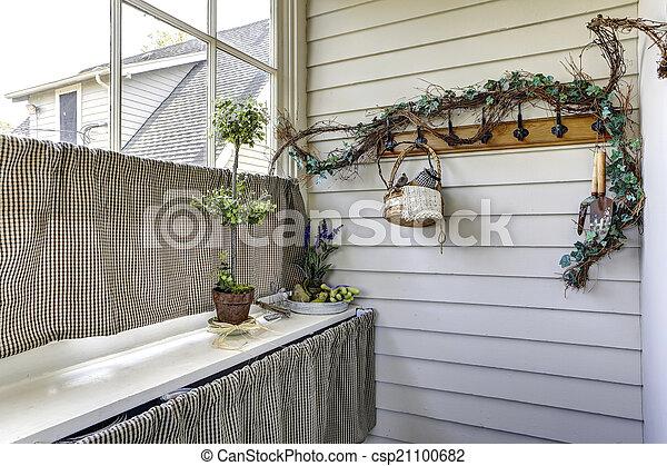 couloir, traitement fenêtre, idée