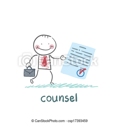 counsel shows the document - csp17393459