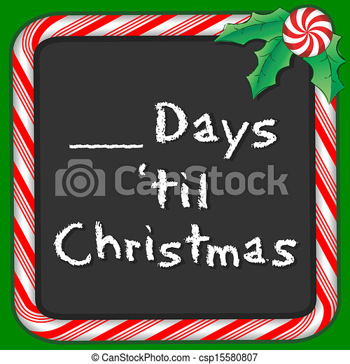 count the days until christmas csp15580807
