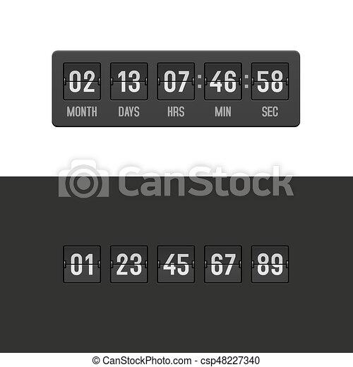 Countdown Clock Timer Set. Vector - csp48227340