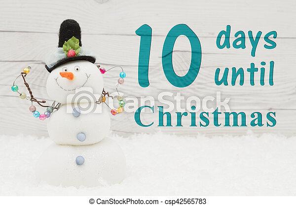 Countdown, nachricht, weihnachten. Schneemann, weihnachten ...