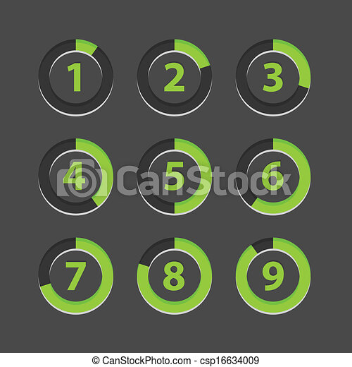 Countdown section icons template - csp16634009