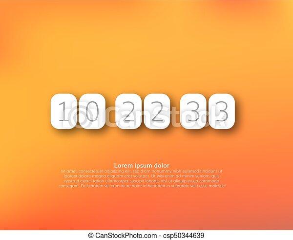 Countdown timer vector clock counter - csp50344639