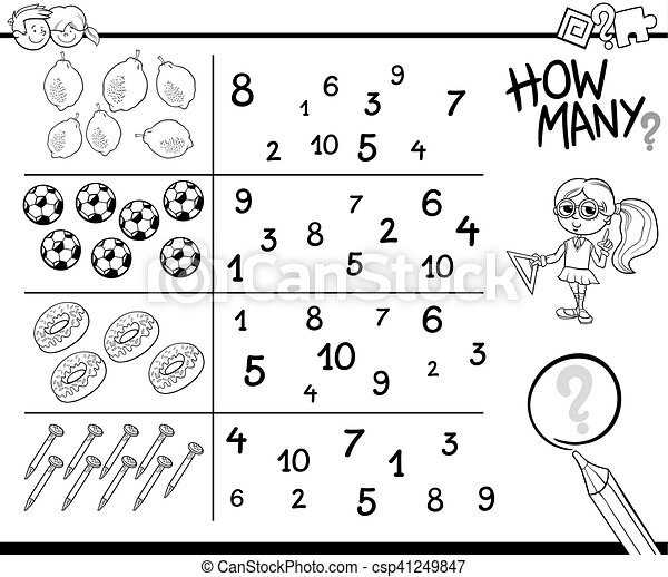 Counting Coloring Pages View Colouring Pages Color by Number Worksheets for Preschool  Counting - YonjaMedia.com | 393x450