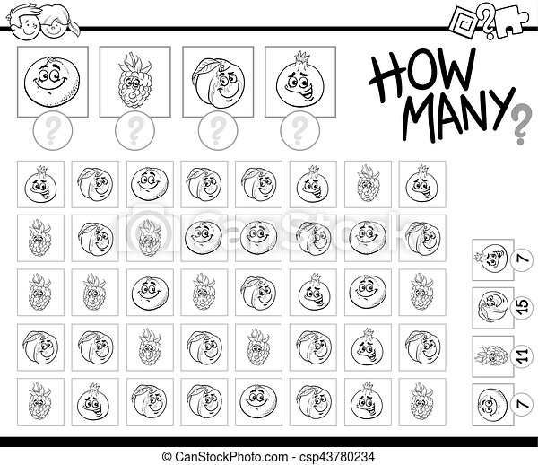 counting activity coloring page - csp43780234
