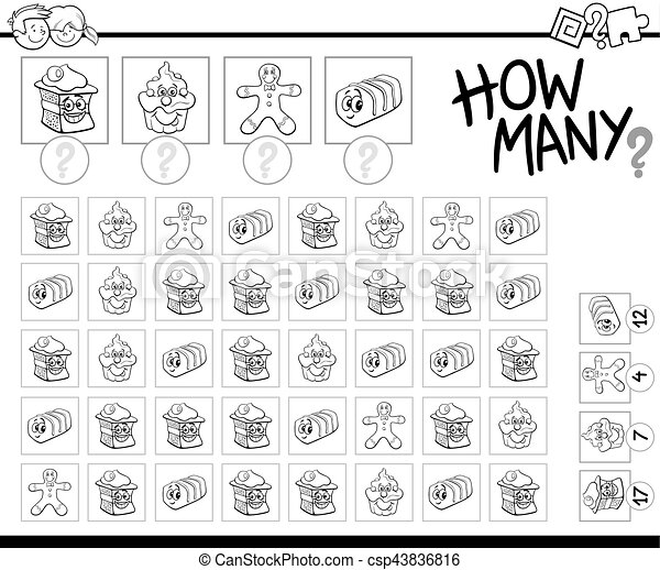 counting activity coloring page - csp43836816