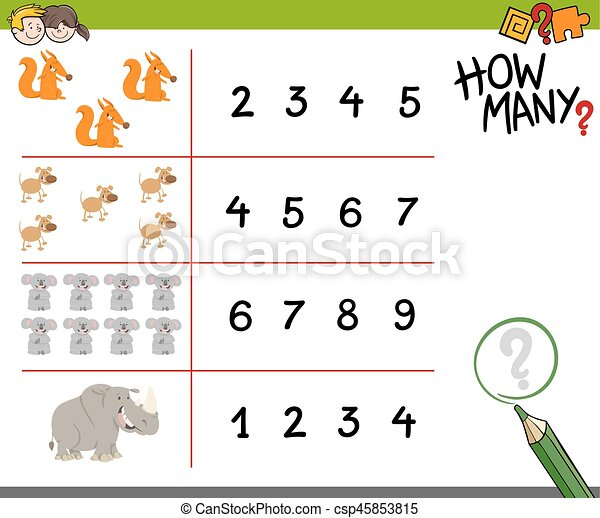 counting activity with animals - csp45853815