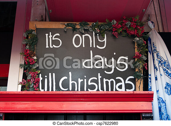 counting down till christmas - csp7622980