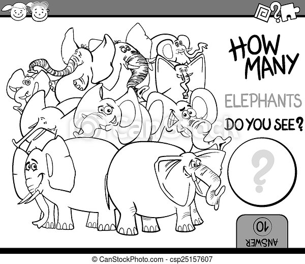 counting game cartoon coloring page - csp25157607
