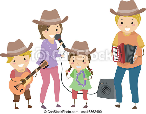 Country Band Family - csp16862490
