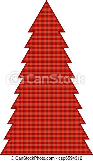 Country Christmas Tree - csp6594312