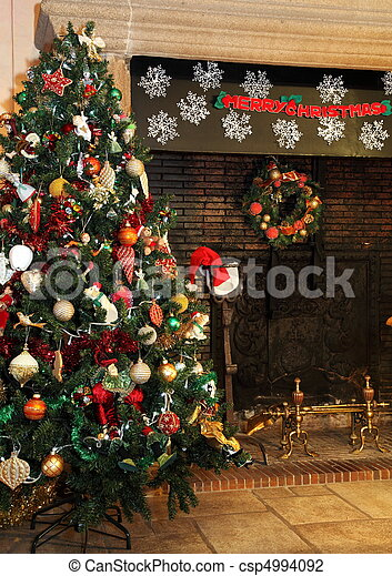 country christmas tree csp4994092 - A Country Christmas