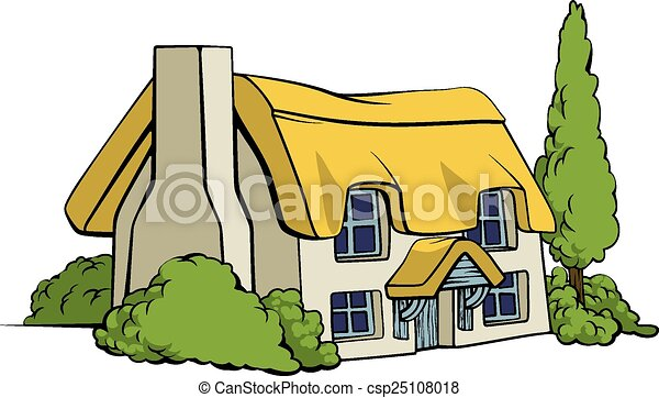 Country cottage or farm house - csp25108018