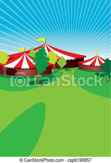 Country fair background.