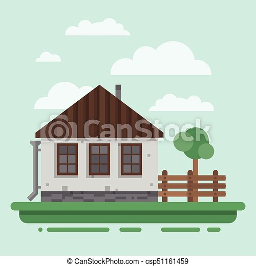 Country House Clipart Vector Csp51161459