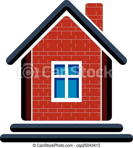 country house constructed with red bricks real estate vector rh canstockphoto com brick house clipart Straw House Clip Art
