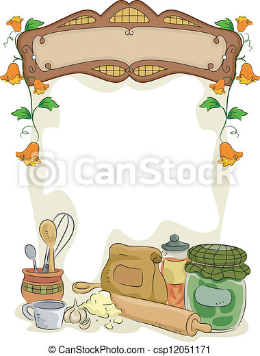 Country Kitchen with Blank Sign - csp12051171