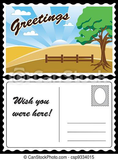 Country Landscape Travel Postcard - csp9334015