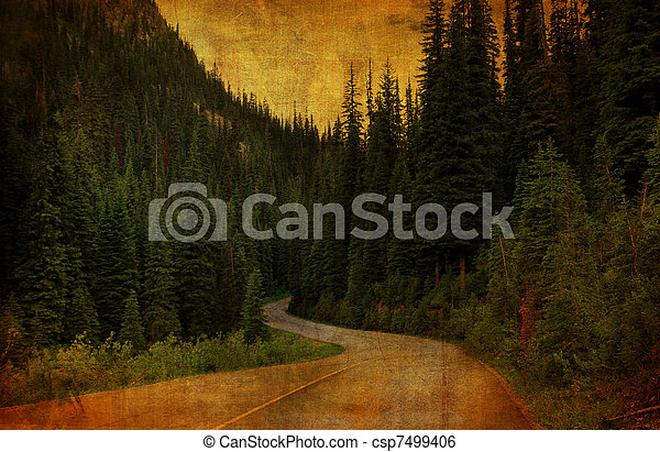 Country Road Grunge - csp7499406